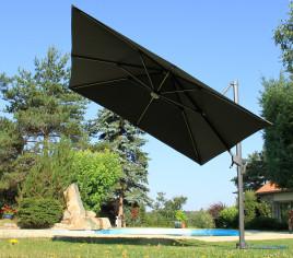 Parasol déporté LUMINO - éclairage LED - Gris anthracite