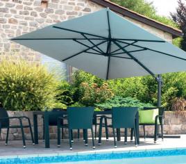 Toile pour parasol déporté rectangulaire LUXEKING - Taupe