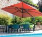 Toile pour parasol déporté rectangulaire LUXEKING - Rouge