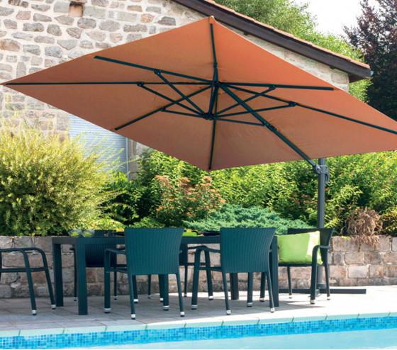 Toile pour parasol déporté rectangulaire LUXEKING - Terracotta