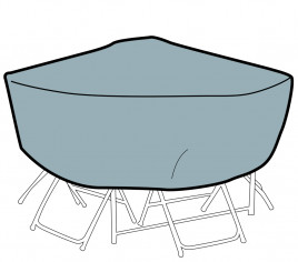 Housse table de jardin ronde