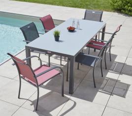Table de jardin rectangulaire CADAQUES