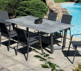 Table de jardin rectangulaire JUL - Gris