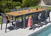 OZALIDE - Ensemble tables et chaises de jardin